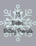 15 Winter Writing Prompts, Winter Writing, Holiday Writing, Writing Prompts