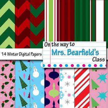Digital Papers {Christmas Fun}