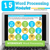15 Word Processing (Google Docs and MS Word) Modules Bundle