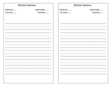15 Word Spelling Pre-Test, Final test, and Dictation Page