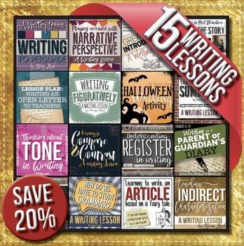15 Writing Lessons BUNDLE