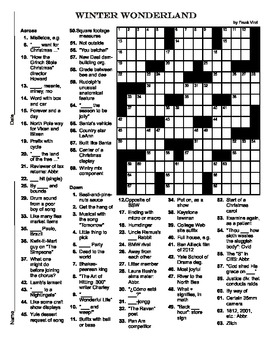 15 X Christmas Crossword Puzzle