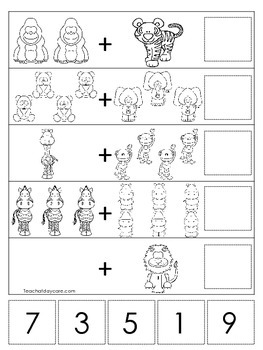 math worksheet : zoo themed math worksheets preschool pre k and kindergarten math  : Pre Kinder Math Worksheets