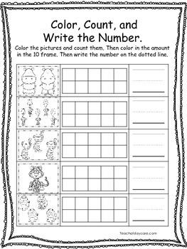 15 Zoo themed Math Worksheets. Preschool, Pre-k, and Kindergarten Math.