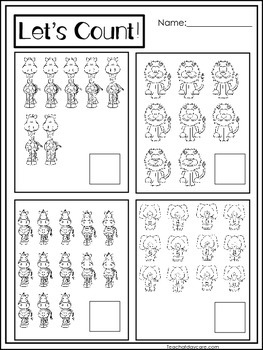 15 Zoo themed Math Worksheets. Preschool,... by Teach At Daycare ...