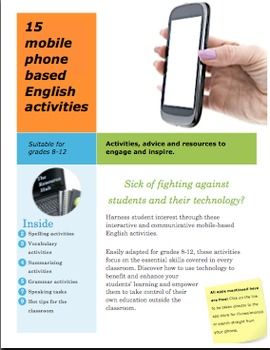 15 cell phone based English activities