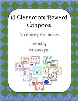 15 classroom coupon rewards