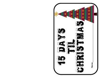 15 days til Christmas activity booklet