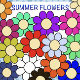 15 flowers clipart  - super simple - not only for Easter /