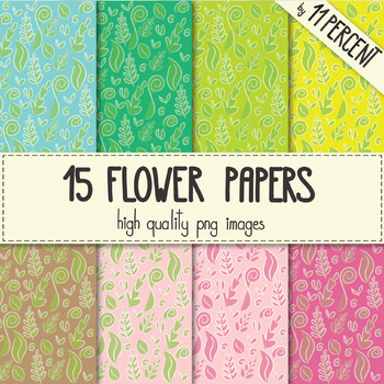 15 flowery spring papers