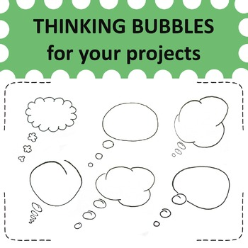 15 hand drawn thinking bubbles