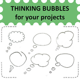 15 hand drawn thinking bubbles