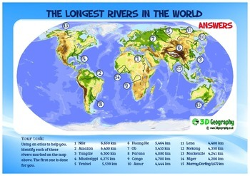 15 longest rivers in the world