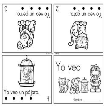 15 mini libros para practicar  palabras de uso frecuente con los más pequeños