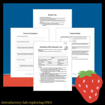 15 minute Strawberry DNA Extraction Lab