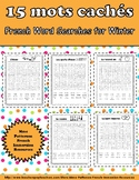 15 mots cachés pour l'hiver - 15 French Word Searches for the Winter