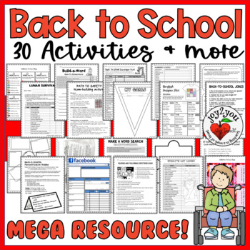 Back To School MEGA PACK – Activities, Worksheet, Projects