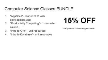 15% off - Bundle - Computer Courses Resources