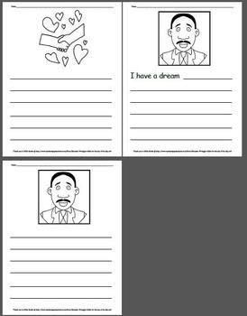 15 pages of Martin Luther King, Jr. Writing Paper
