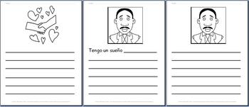 15 pages of Martin Luther King, Jr. Writing Paper - SPANISH