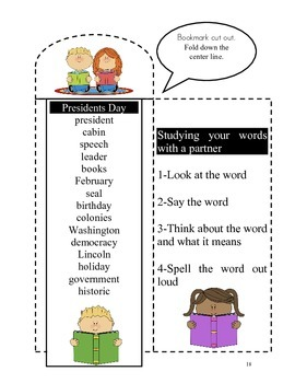 15 words for Presidents Day-20 activities of NO PREP word work-40 pages