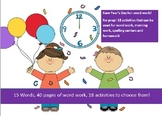 15 words related to the New Year - 20 activities of NO PREP word work - 40 pages