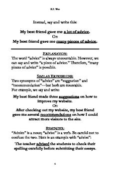 150 Common Written & Spoken Errors Made by ESL Learners