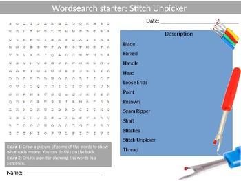 150 Design Technology Tools Starter Activities Wordsearch Crossword Anagram