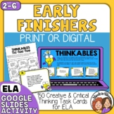 Early Finishers Task Cards for English Language Arts Fast