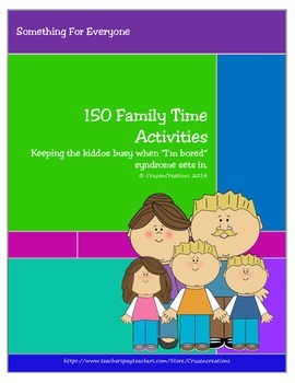 150 Family Time Activities