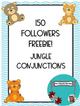 150 Followers FREEBIE! Jungle Conjunctions