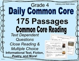 175 Grade 4 Daily Common Core Reading Passages