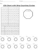 150 Grid For Skip Counting and Multiplication