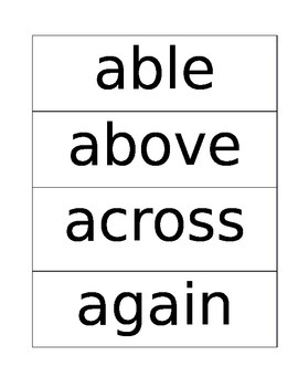 150 High Frequency Words