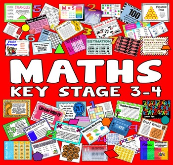 150 KS 3-4  7th -11th GRADE MATHS ACTIVITIES TASKS GAMES RESOURCES