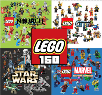 150 Lego ClipArt - Digital , PNG, image, picture,  oil painting, drawing