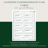 150 Listening/Oral Comprehension - Auditory Memory Task Cards Distance Learning