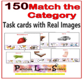 150 Match the Category - Flash Cards with Real Images.