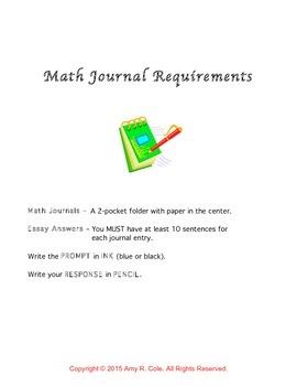 150 Math Journal Prompts