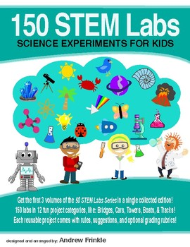 150 Physics Science Experiment STEM STEAM Lab Projects - 50 STEM Labs Collection