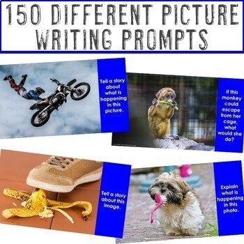 Writing Prompts Distance Learning | Google Classroom Writing Assignment Lessons