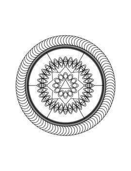 150 Printable Design Coloring Pages - Mandala Style