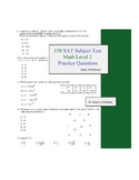 150 SAT Subject Test Math Level 2 practice questions