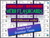 150 Verb Flashcards in the Simple Past tense in Spanish an