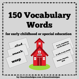 150 Vocabulary Words for Special Education