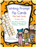 150+ Writing Prompt Task Cards for Grades 3-5 w/ bonus stationary & organizers!