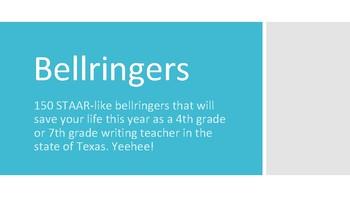 150 Writing STAAR Bellringers
