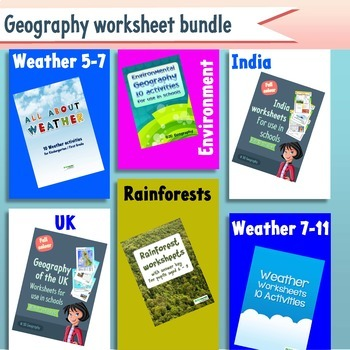 150+ geography worksheets