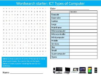 150 x ICT Computing Starter Activities Keyword Computer Science Homework