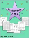 156 Alphabet Worksheets